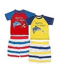 Sweet & Soft 男婴 4 件套*服和后备箱泳装套装(婴儿/幼儿)