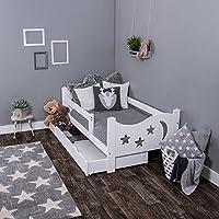 KAGU Chrisi 儿童床 青少年床 初级床(140 × 70 厘米或 160 × 80 厘米) 松木实木,包括 床垫和抽屉。 白色 160 x 80 cm
