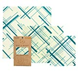 Bee's Wrap Assorted 3 Pack, Eco Friendly Reusable Food Wraps, Sustainable Plastic Free Food Storage, Geometric Print - 1 Small, 1 Medium, 1 Large