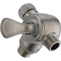 Delta U4929-PK 3 向淋浴臂分流器适用于手持式淋浴, 不锈钢色 3.00 x 3.00 x 3.00 inches U4929-SS-PK