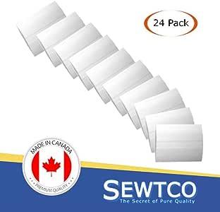 织物粉笔用于缝纫量身定做粉笔,量身粉笔,面料粉笔加拿大制造,蜡基裁缝粉笔,SEWTCO 出品 白色 24 Pack in Bubble wrap Fabric Chalk