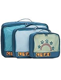 LYCEEM 蓝橙 中性 轻质出差旅行户外旅游必备洗漱收纳袋3件套 PRX1