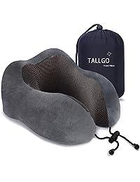 旅行枕,*佳*泡沫颈枕头支撑软枕,适用于*枕,飞机汽车和家用(黑色) 灰色