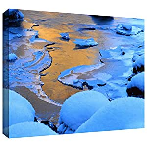 ArtWall Dean Uhlinger 'Merced River Sunset-Yosemite' Gallery-Wrapped Canvas Artwork, 24 by 32-Inch