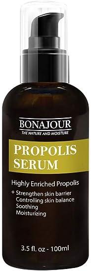 [BONAJOUR] Propolis 精华液 – *佳天然丙二醇提取舒缓凝胶,适合敏感肌肤,3.5 液体盎司(抗痘,保湿,舒缓,营养)