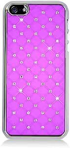 iPhone 5/5S 手机壳,老鹰*橡胶硬扣合式手机壳带钻石适用于 Apple iPhone 5/5S ,桃红色PHDIPHONE5C99HPK Chrome/Hot Pink