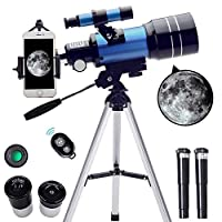 ToyerBee 蓝色 30070 望远镜,带智能手机适配器和无线遥控器