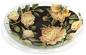 Peggy Karr Peony 16 by 8-Inch Handmade Art Glass Serving Bowl