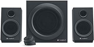 Logitech 罗技 Z333 2.1 低音炮音箱 重低音音箱 Satter Bass 80Watt 峰值输出 3.5mm & RCA输入接口,多接口,控制装置,PC/PS4/Xbox/TV/智能手机/平板电脑