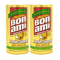 Bon Ami 粉末清潔劑,適用于廚房和衛生間 - 所有類型的表面,清潔污垢和污垢,拋光表面,吸收異味。 414.03 毫升罐 2組 28.0