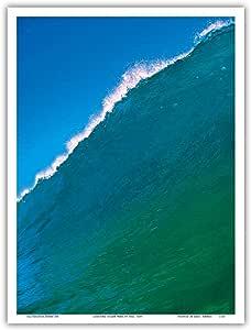 来自 Paul Topp Art Print 的原始照片的夏威夷创作海洋波浪 多种颜色 9 x 12 in PRTA1726
