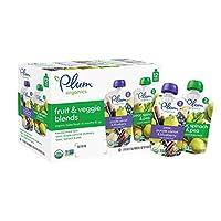Plum Organics 谷百 有机二段蔬菜水果吸吸乐 113g*12袋(最佳效期至2019-07-31)