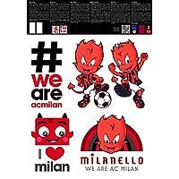 Imagicom AC Milan 标志贴纸可移除和可重贴的 A3 2 张 – 多色,塑料,5 x 29.7 x 42 厘米