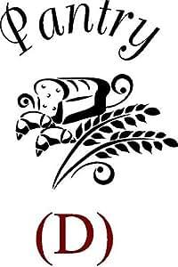 "CreativeSignsnDesigns [创意标志 N 设计,创意标志 NDesigns] 门门设计贴花 黑色 11""x12"" pantrydlb"