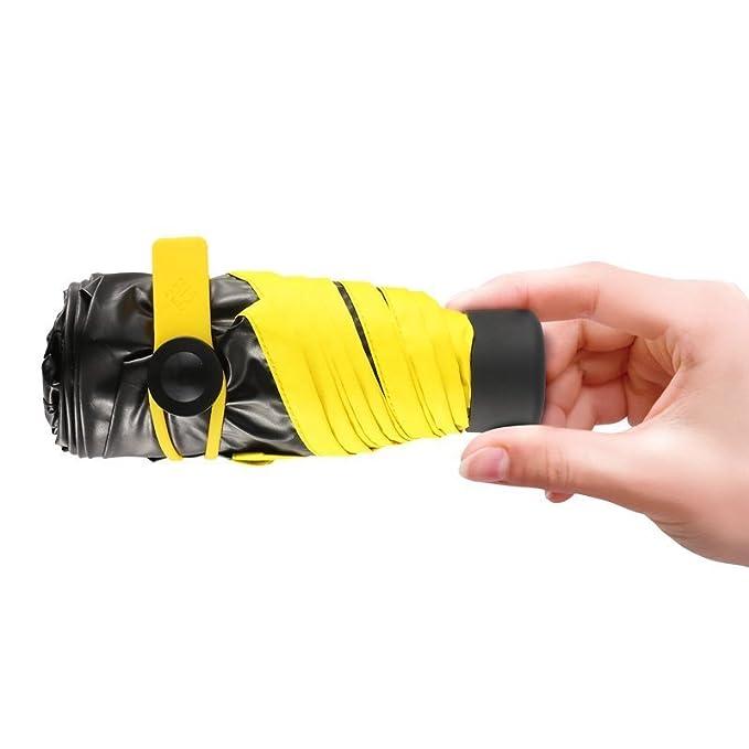 迷你五折 晴雨两用:BANANA 黑胶防晒遮阳伞