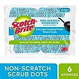 Scotch - Brite 磨砂膏圆点 non-scratch 磨砂膏海绵 6 Sponges 6份 6