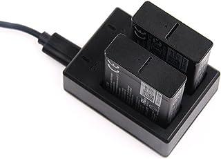 Yeetech 易科达 双充+双电池 GoPro5配件 Hero6/5 Black相机电池充电器 电池双充套装 黑狗5 相机双充 充电器 (双充+2块电池)
