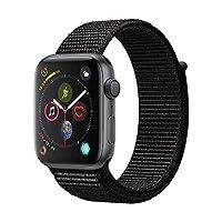 Apple Watch Series 4 MU6E2CH/A 智能手表(GPS 44毫米 深空灰色铝金属表壳 黑色回环式运动表带)官方授权 全新国行 顺丰发货 含税带票 可开16% 专票