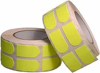 Turbo 保龄球握把带胶带 500 片霓虹色 1 英寸,黄色