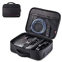 投影机盒,投影机旅行手提包内部尺寸 36.83 厘米 x 26.92 厘米 x 8.89 厘米 带可调节肩带和隔间隔层,适用于宏碁、爱普森、Benq、LG、索尼(大号)