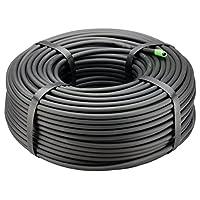 Rain Bird T22-100S 滴灌 0.635 cm 空白分布管,100 英尺卷,黑色 250' Roll T22-250S