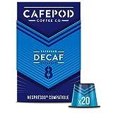 CAFEPOD Nespresso兼容脱因咖啡胶囊 20个(6件-共120个胶囊)