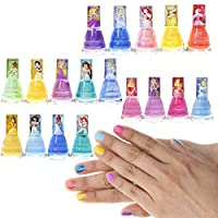 TownleyGirl Disney Princesses 超闪耀脱落*油豪华套装适合女孩,18 种颜色
