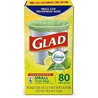 Glad OdorShield 小抽绳垃圾袋 Sweet Citron & Lime 80