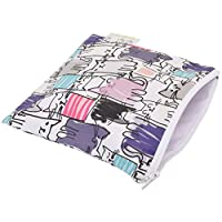 Itzy Ritzy Happens Reusable Snack and Everything Bag, Raining Cats & Dogs, Multi