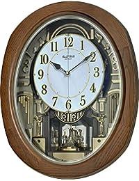 Rhythm Clocks Joyful Blessing Magic 运动时钟 Brown, Gold, White 4MH414WU06