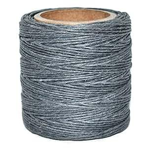 """主螺纹 - 灰色打蜡涤纶绳。 每个 210 英尺。 包括 2 个线轴。 灰色 .030"""" WP-1005-.030-2"""