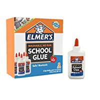 Elmer's Liquid School Glue, White, Washable, 4 Ounces, 5 Count - Great for Making Slime
