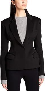 DKNY 女式夸张修身长袖单扣西装外套