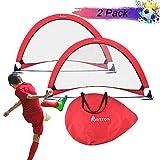 Portzon Pop Up 足球目标二便携式足球网,带手提袋