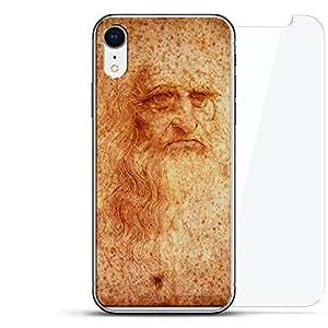 奢华隐形,酷炫设计,钢化玻璃背板,360 度保护膜,适用于 iPhone EXRLUX-IRGL360-DAVINCI1 ART: LEONARDO DA VINCI PORTRAIT 透明