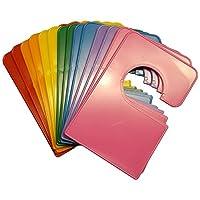 14 空白彩虹衣橱隔层 5.25x3.5 英寸 加 48 个标签