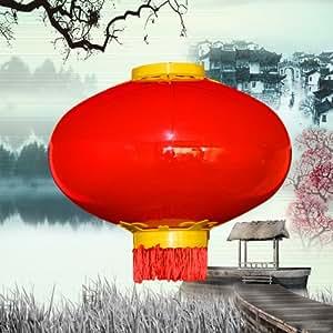晓明led大红灯笼 不掉色 西瓜型发光灯笼 直径500mm 户外防水灯笼 景观灯笼 节日喜庆彩灯