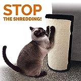 PetLuv 猫咪刮擦和爪子家具保护套,适用于椅子、沙发、床。 角落刮板 - 保护内饰免受爪痕、划痕和切碎 米色 4 Pack (4 Large)