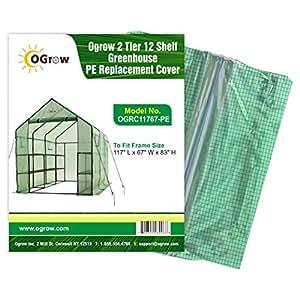OGrow 温室更换罩。 OGRC11767-PE