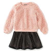 Calvin Klein 卡尔文·克莱恩 女童 皱褶针织提花连衣裙