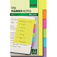Sigel HN205 标签纸笔记录,42页,大尺寸9.8 x 14.8厘米 6 种颜色