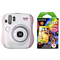 Fujifilm 拍立得 Mini 26 +彩虹胶片套装 - 粉色/白色