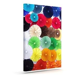 "Kess InHouse Heidi Jennings""Adored""彩色圆圈户外帆布墙壁艺术 8"" x 10"" HJ1003AAC01"