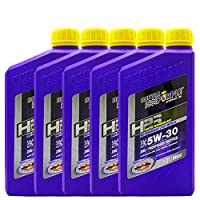 ROYAL PURPLE 紫皇冠 HPS全合成机油 5W-30 946ml*5 SL(Synerlec润滑油添加剂技术 增大油膜强度 更加抗磨)(亚马逊自营商品,由供应商配送)