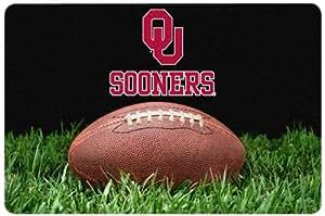 NCAA 奥克拉荷马大学经典足球宠物碗垫,大号