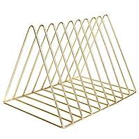 """三角文件夹架和支架 11.3"""" x 7.4"""" x 7.1"""" 金色"""