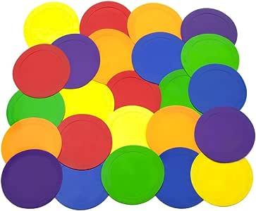 Ace Creations 22.86 厘米聚乙烯彩色记号笔 – 适用于训练和演练 – 一套 24 – 每个红色、*、橙色、紫色、蓝色和黄色