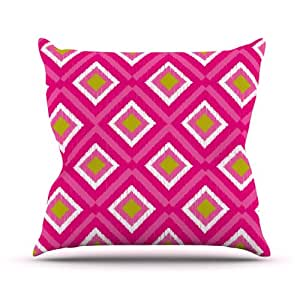 Kess InHouse Nicole Ketchum 瓷砖室内/室外抱枕 18 x 18 英寸(长x宽) 粉红色 NK1015BOP03
