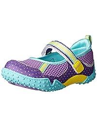 Tsukihoshi Child 45 Mary Jane Sneaker (Toddler/Little Kid), Purple/Mint, 12.5 M US Little Kid