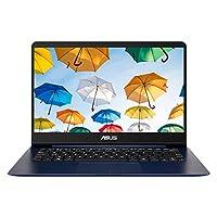 华硕 ZenBook UX430UA-GV415T 14 英寸纳米边笔记本电脑(蓝色)- (Intel Core i7-8550U,8 GB 内存,256 GB 固态硬盘,Windows 10)